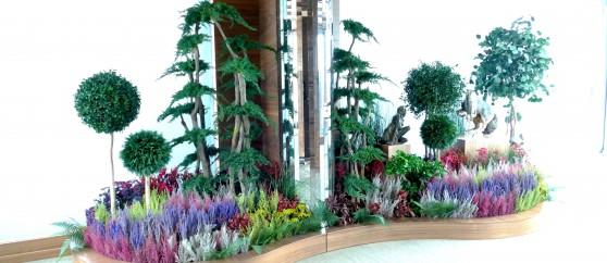 Интериорно озеленяване със стабилизирани растения в офис , кв. Бояна