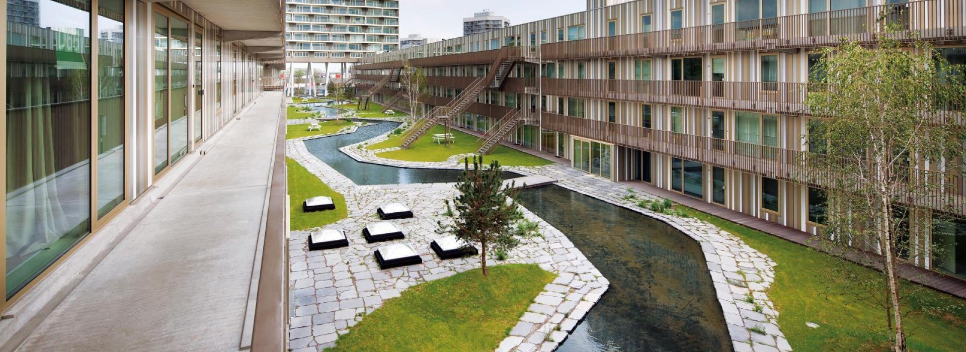 Покривна градина със система Protectodrain