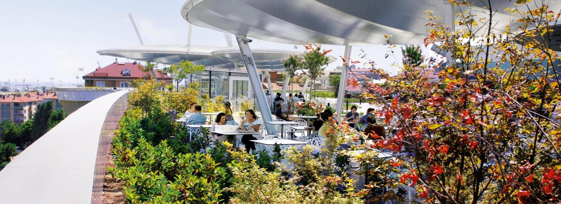 Покривна градина със система Floradrain