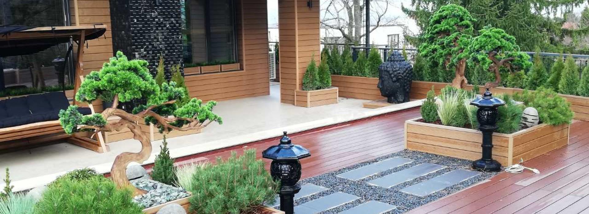 Озеленяване на тераса , частен имот