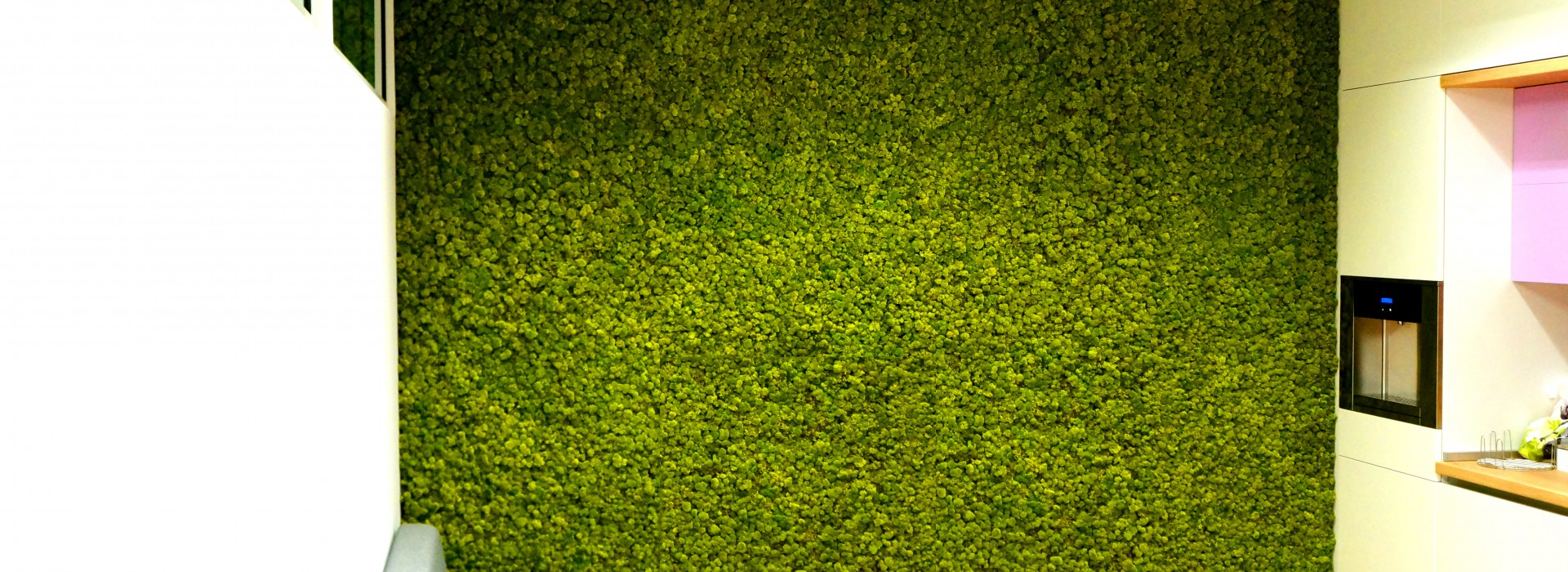 Зелени стени от скандинавски мъх за Cargotec